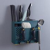 Bakeey Cucina Montaggio a parete Scarico Stendino Bacchette Posate Forchetta Portaoggetti Scatola Portautensili Scolapiatti