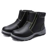 soczewki Męskie bezpieczeństwo Stalowe palce Antypoślizgowe buty na zamek Wodoodporne spawanie na zewnątrz Obuwie robocze