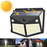 260 LED На открытом воздухе Сад Солнечная Настенный светильник безопасности с питанием PIR Motion Датчик Лампа