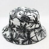 Woman Men Printed Coconut Double-sided Usable Bucket Hat