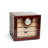 24x22x24cm Humidor Hülle Tragbare Hülle Luftbefeuchter Hygrometer Humidor Sigaren Box