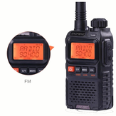 BAOFENG UV3R Plus Mini Walkie Talkie Intercom UHF VHF Dual Banda Dual Display Canais Completos Rádio Lanterna FM