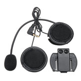 V6/V4 Bluetooth Motorhelm Interphone Intercom Headset Hoofdtelefoon Zwart