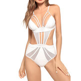Hollow Out Padded Strap-on One Piece Swimsuit