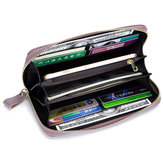 RFID Genuine Leather 6inch Phone Bag Long Wallet