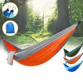 IPRee® Double Person Hammock Nylon سرير معلق متأرجح خارجي للتخييم والسفر بحد أقصى 300 كجم