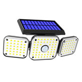 112LED/138LED/132COB Solar Motion Sensor Lights Security Wall Lamp Floodlight 3-Head
