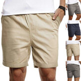 INCERUN Summer Beach Cotton Men Fitness Leisure Shorts With Pocket Outdoor Sport Short Pants S-5XL