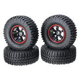 AUSTAR 4PCS 1.9Climbing Car Wheel Tyre For 1/10 Climbing Car Red Color