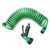 25FT Esnek Taşınabilir Genişletilebilir Bahçe Su Hortum Nozzle İle