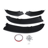 Car Universal Carbon Fiber Look Matte Black Front Bumper Splitter Lip  Body Kits For BMW 4 Series