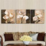3pcs orchidea fiore rosa combinazione pittura su tela disegno frameless casa decorazione della parete di arte di carta