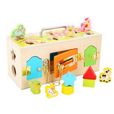 Wooden Educational Practical Material Little Lock Latch Box Kids Toys