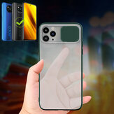 Bakeey for POCO X3 NFC Case Lens Privacy Protection Slide Camera Cover Shockproof Anti-Scratch Translucent Matte Protective Case