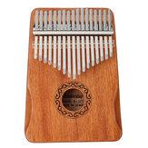 17キーカリンバタムフィンガーピアノ初心者実用的な木製楽器セット