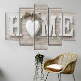 5 stuks canvas schilderij liefde thuis muur decoratieve print kunst foto's frameloze muur opknoping decoraties voor thuiskantoor