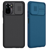 Nillkin for Xiaomi Redmi Note 10 Case Bumper with Lens Cover Shockproof Anti-Scratch TPU + PC Protective Case