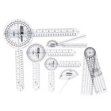 6Pcs 360° 12/8/6 Inch Medical Spinal Ruler Goniometer Angle Protractor Angle Ruler
