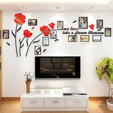 3D Acrylic Family Photo Picture Frame Wall Sticker Art Background Home Decor