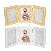 Tri-fold Baby Hand Foot Print Casting Mould Kit Photo Frame Christening Gift Keepsake