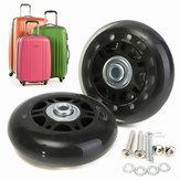 2pcs de las ruedas de recambio maleta de equipaje ejes de reparación de lujo desde 70 mm