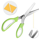 24CM DIY Teeth Scissors Stainless Steel Sewing Dressmaking  Triangular Arc Shears Cutter Portable Camping Picnic