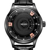 MEGIR MG1067 Fashion Casual Men Calendar Функция Кожаные часы Стандарты Кварцевые наручные часы