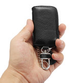 Universal Car PU Leather Smart Remote Key Case Holder Bags Fob Black