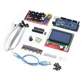 रैंप 1.6 मदरबोर्ड + 5 पीसी DRV8825 स्टेपर मोटर ड्राइवर + मेगा 2560 R3 रिप्रैप मॉडल + एलसीडी 12864 3 डी प्रिंटर पार्ट
