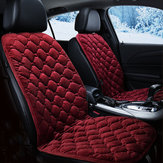 12V Heated Plush Cushion Car Seat Cover Heating Heater Warmer Pad Winter Red Universal