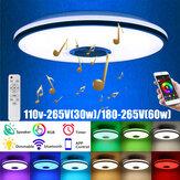 30W 60W bluetooth LED Luz de techo Smart Music Chandelier APP Inteligente RGB Lámpara con Control remoto