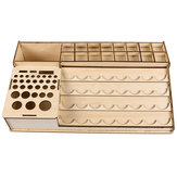 39.5x22.6x6.7cm Contenitore in resina per pittura a pigmenti in legno Vaso Rack modulare Organizzatore Contenitore Stand Holder