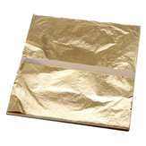 100Pcs Imitation Gold Foil Sheets Copper Leaf Sheets Transfer Leaf Sheets Gold Leaf Booklet 16cm×16c