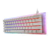 GamaKay K61 61 Tombol Keyboard Gaming Mekanik Hot Swappable Type-C 3.1 Kabel USB Tembus Kaca Base Gateron Switch ABS Dua-warna Keycap NKRO RGB Gaming Keyboard