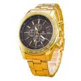 RQMAND Casual Calendar Alloy Band Life Waterproof Men Quartz Wrist Watch