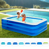 3.6M PVC Inflatable Swimming Pool Family Summer Water Play Backyard Portable Outdoor Garden Travel
