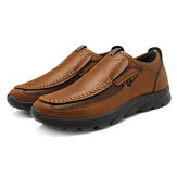 Menico Casual Comfy Soft Moc Toe Slip On Læder Oxfords