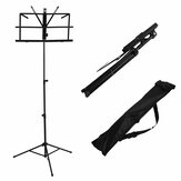 2PCS Foldable Aluminum Alloy Guitar Stand Holder Music Sheet Tripod Stand Height Adjustable with Carry Bag for Musical Instrument