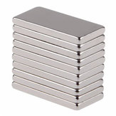 10pcs N50 20x10x2mm Neodímio Block Ímã Oblongo Super Strong Raro Earth Ímãs