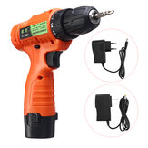 12V Dual Speed Rechargable Electric Drill Driver Mini Multifunction Household Li-ion Battery Power Screwdriver Tool