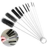 10Pcs Nylon Tubo Escova Set Cleaning Escova Set para palhas para beber Óculos Teclados Jóias Limpeza Produtos de limpeza para casa