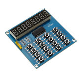 TM1638 3-Wire 16 Keys 8 Bits Keyboard Buttons Display Module Digital Tube Board Scan And Key LED