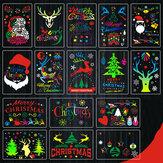 16ピースDIYクリスマスくり抜きテンプレート絵画セットテンプレート装飾壁絵画大人子供
