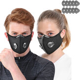 1Pc Bicycle Riding Mask 5 Layers Filter Anti-Fog PM2.5 Dust-Proof Dust Mask With 10 Filters