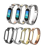 Holdmi 502 Colorful Stainless Steel Watch Strap Replacement Watch Band for Xiaomi Miband 5 Non-original