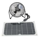 10 W USB Painel Solar Alimentado Mini Ventilador Portátil À Prova D 'Água Ventilação Quente de Verão Quente