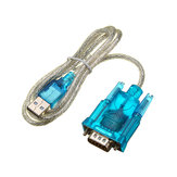 Translucent USB To RS232 Serial 9 Pin Converter Cable Adapter