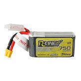 TATTU R-LINE 1.0 11.1V 750mAh 95C 3S Lipo Bateria XT30 Plugue para Taycan 25 Eachine Lizard95 FPV Racer