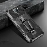 Bakeey para Xiaomi Redmi Note 9/Redmi 10X 4G Caso Resistente de doble capa Armor Magnético con soporte de clip Cinturón Antideslizante Antihuellas a prueba de golpes Protector Caso No original