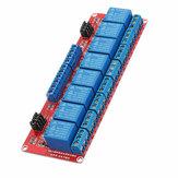 Módulo de relé de optoacoplador de gatillo de nivel de 5V y 8 canales Geekcreit para Arduino - productos que funcionan con placas oficiales Arduino